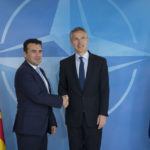 NATO chief arrived in Macedonia on Wednesday