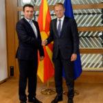 Zoran Zaev and Nikola Dimitrov met with Donald Tusk in Brussels